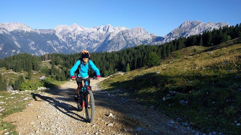 Trans Slovenia 4 woman mtb in mountians